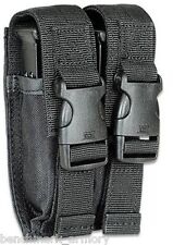 GLOCK / BERETTA Dual Double Stack Pistol Magazine Pouch Belt Holster 45 40 9mm