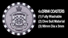 4  x   TRIUMPH THE FIRST 1902  SHIELD MOTORCYCLE MOTOR CYCLE DRINK COASTERS -