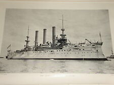 1898 US Navy Armoured Cruisers Brooklyn & New York Lithograph