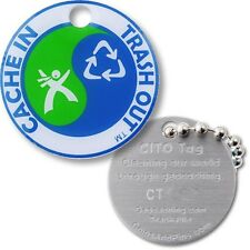Cache In Trash Out (CITO) Micro Travel Tag (Travel Bug Geocoin) For Geocaching