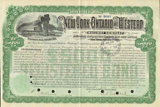 New York Ontario and Western Railway Co. > 1920 railroad $5,000 bond certificate