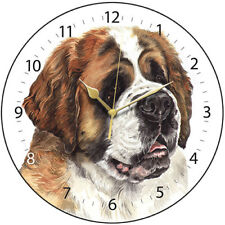 St Bernard Dog Print Round Wall Clock