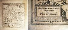 1649 ARCHIDUCATUS AUSTRIAE SUPERIORIS MAP AUSTRIA MERIAN SUTTINGER