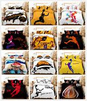 3D Basketball Player Sports Duvet/Quilt/Doona Cover Bedding Set Pillowcase