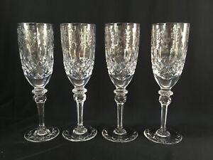 VINTAGE  ROGASKA CRYSTAL GALLIA CHAMPAGNE FLUTE GLASSES 8 1/4''   ~ SET OF 4