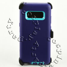 Samsung Galaxy Note 8 HardShell Case w/Clip fits Otterbox Defender (Purple/Teal)