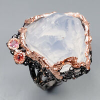 Quartz Ring Silver 925 Sterling Fine Ar t Jewelry Design Size 9 /R146258