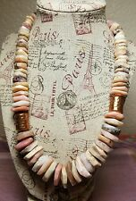JAY KING MINE FINDS DTR  COPPER, MULTICOLOR  GRADUATED BEAD CHUNKY NECKLACE