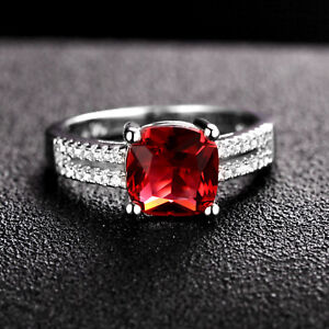 Handmade 2.0ct Ruby   Size US 7 14K White Gold Ring CM200