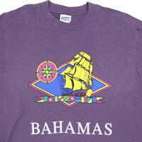 Vtg 80s 90s Bahamas T-Shirt LARGE USA Made Single Stitch Thin Soft Surf Skate