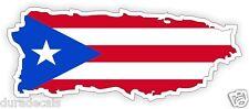 Puerto Rico Flag Hard Hat Decal   Helmet Sticker   Label   Puerto Rican USA