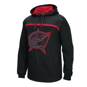 Columbus Blue Jackets Cross Check Reebok Team Logo Black Pullover Hoodie Men's