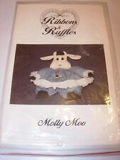 PROJECT PATTERN FABRIC SEWING STUFFED COW MOLLY MOO GIRL COUNTRY ANIMAL DOLL