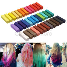 36 Multi-Color Temporary Hair Dye Chalk Set Pastels Wash Out Party Kit
