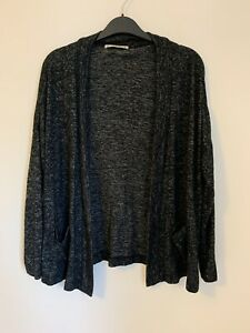 Pull and Bear Grey Marl Cardigan Size Small S Very Good Condition