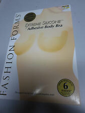 FASHION FORMS Extreme Silicone Adhesive Body Wire Free Bra CUP B Sheer