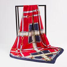 """Women's Multi-Color Fashion Scarves Print Silk-Satin Square Head Scarf 35""""*35"""""""