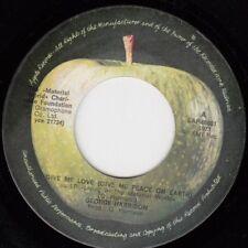 "GEORGE HARRISON GIVE ME LOVE THE BEATLES RARE 1973 RECORD YUGOSLAVIA 7"""