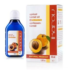 Natural Apricot Kernel Oil 55ml 100% Pure Antioxidant, Anti-Wrinkle Oil, Ikarov