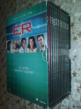 lotto/cofanetto 13 dvd ER medici in prima linea, prime quattro stagioni 1-2-3-4