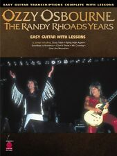 Ozzy Osbourne The Randy Rhoads Years - Easy Guitar Transcriptions 002500492