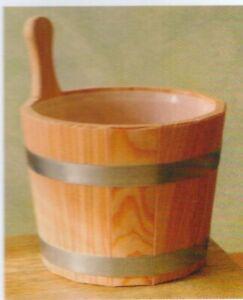 Aufgußkübel Holz natur 5 l inkl. Kunststoffeinsatz