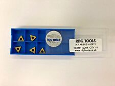 RDGTOOLS TCMT 11 CARBIDE TIPS / INSERTS / TURNING TOOLS PROFILE TIPS x5
