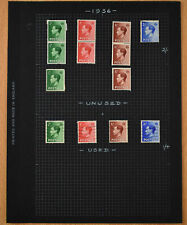 Gb 1936 Keviii Album Page Of Stamps #V11584