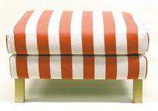 IKEA Karlstad Footstool Slipcover Rannebo Red White Stripe Ottoman Cover NEW NIP