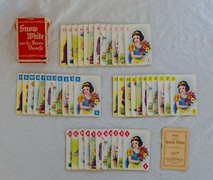 Disney Snow White 1937 Pepys Vintage Card Game Boxed with Rules Very Rare