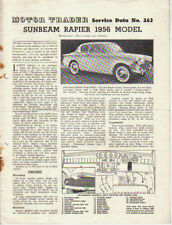 Sunbeam Rapier Series 1 1956 Model Motor Trader Service Data No. 263 1956