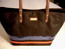 Womens TOMMY HILFIGER Black Wool Tote Handbag Blue Red Sequins NWT New $79