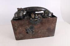 Original WWII WW2 Old German Army Bakelite Field Phone.