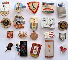 TENNIS 19 PINS LOT- '84-'88-'92-'16 OLYMPICS-USA NOC-'86 ASIA GAMES-VNTG SYMBOLS