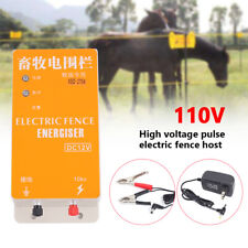 Dc 12v Electric Fence Charger Ranch Animal Cattle Poultry Fencing Controller