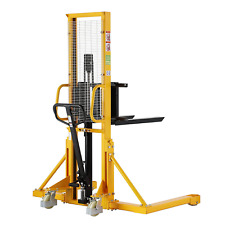 New Listingxilin Manual Pallet Stacker 1100lbs Capacity 63 Lift Height With Straddle Legs