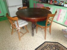 Antique Victorian Easton Furniture Round Solid Wood 6 Leg Table LOCAL orPLZ Read