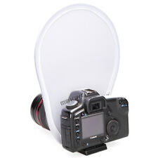 White Mini Round Lens Mount Soft Diffuser Reflector For Camera Flash Speedlite