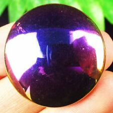 27x5mm Purple Yellow Titanium Crystal Round Cab Cabochon F61834