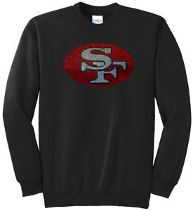 Women's San Francisco 49ers Ladies Bling Sweatshirt Woman's S-XL