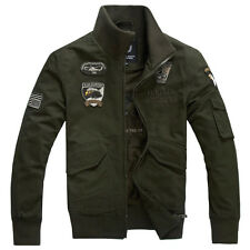 New Fashion Mens Casual Denim Air Force Cotton-padded Eagle Coats Jackets WJ195
