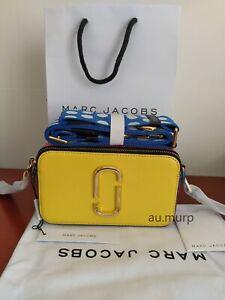 NWT Genuine Marc Jacobs Snapshot Small Camera Bag Crossbody LEMON MULTI SALES.