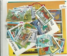 "Lot 100 timbres thematique "" Disney"""