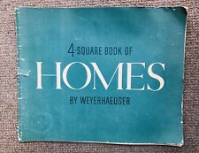 weyerhaeuser 4-Square Home Working Drawings 40's Architecture vtg house