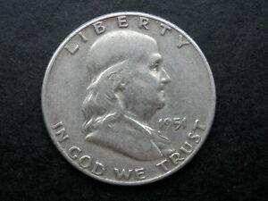 HALF DOLLAR AÑO 1951 - USA  MEDIO DOLAR DE PLATA