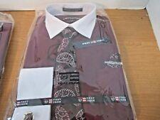 PHAT FARM Maroon  Long Sleeve DRESS SHIRT & Paisley NECK TIE~Boys 12~NEW