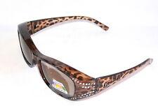 Figuretta Sonnen Überbrille UV400 Polarisiert Leopard Muster Strass TV Werbung