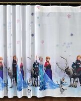Luxury Disney FROZEN Net Curtain Slot Top 75 cm x 150 cm drop