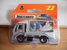 """Matchbox Ford Cargo Scissors Truck """"Venture STar"""" in Grey/White on Blister"""