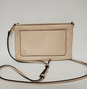 Tory Burch Light Pink Genuine Leather Crossbody Slim Bag Authentic*